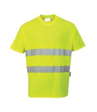 S172 - Tee-shirt confort coton - Yellow - R