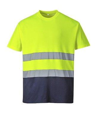 S173 - Zweifarbiges Baumwoll-Comfort-T-Shirt - YeNa - R