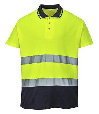 S174 - Zweifarbiges Baumwoll- Komfort Poloshirt - YeNa - R