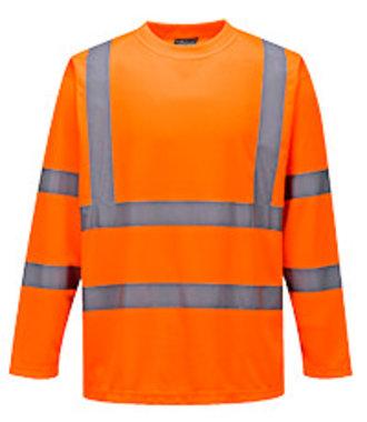 S178 - Hi-Vis Long Sleeved T-Shirt - Orange - R