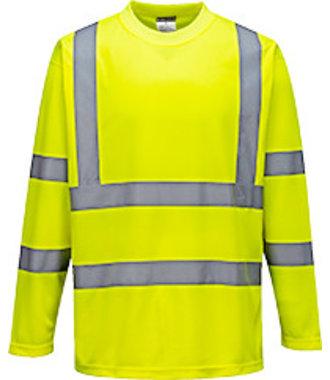 S178 - Hi-Vis Long Sleeved T-Shirt - Yellow - R