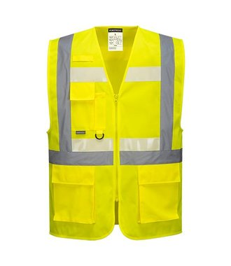 G456 - Glowtex Ezee Zip Executive Vest - Yellow - R