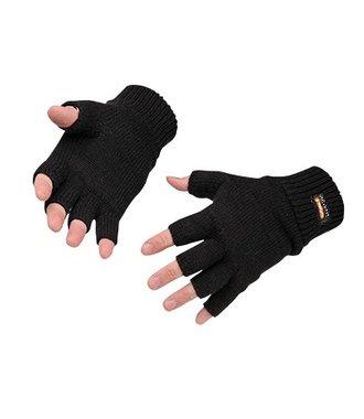 GL14 - Vingerloze Gebreide Insulatex Handschoen - Black - R