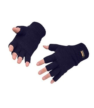 GL14 - Fingerfreie Insulatex Strick-Handschuhe - Navy - R
