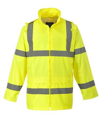 H440 - Hi-Vis Rain Jacket - Yellow - R