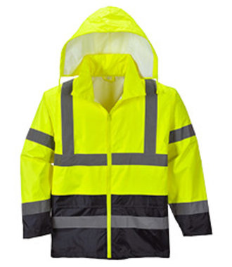 H443 - Hi-Vis Classic Contrast Rain Jacket - YeNa - R