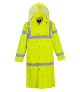 H445 - Hi-Vis Coat 122cm - Yellow - R
