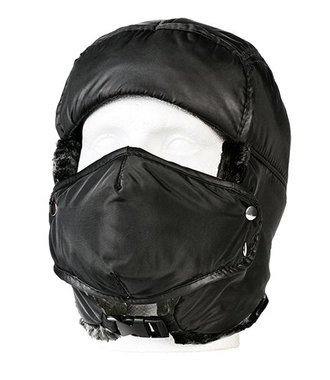 HA13 - Winter Trapper Cap - Black - R