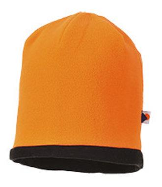 HA14 - Reversible Hi-Vis Beanie Hat - OrBk - R