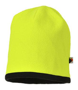 HA14 - Reversible Hi-Vis Beanie Hat - YeBk - R