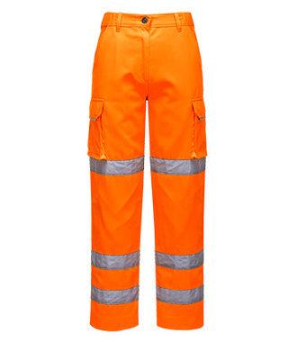 LW71 - Ladies Hi-Vis Trousers - Orange - R