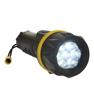 PA60 - 7 LED Rubber Zaklamp - YeBk - R