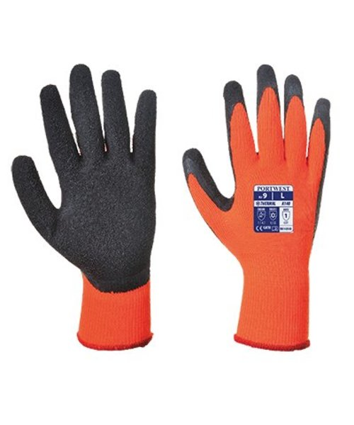 Portwest A140 - Thermo Grip Handschuh - OrBk - B