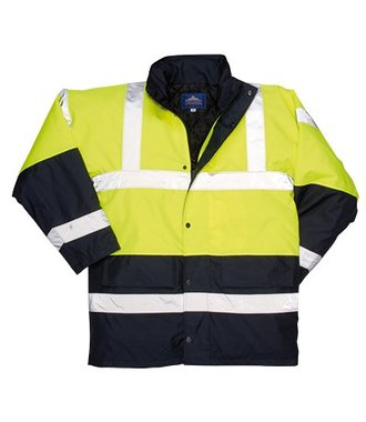 S466 - Hi-Vis Contrast Traffic Jacket - Yellow - R
