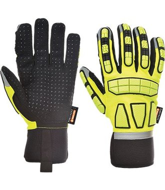 A725 - Safety Impact Glove Lined - Yellow - R