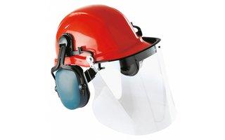 Helm met gelaatsscherm
