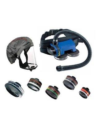 Proflow 160 de système de soufflerie complet avec filtres P3 pour une protection contre les poussières fines et les virus