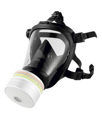 Honeywell OptiFit single volgelaatsmasker met A2P3 filter dat beschermt tegen fijnstof, chemicaliën en virussen - maat Medium