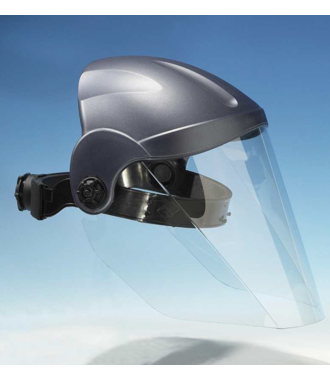 Masque facial qui protège tout le champ de vision contre la poussière et les éclaboussures, fabriqué en Allemagne - commande à partir de 5 pièces