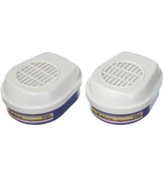 X-plore filter A2B2E2K2HgP3 voor halfgelaatsmasker X-Plore 3300/3500/3350/3550 en voor volgelaatsmasker 5500