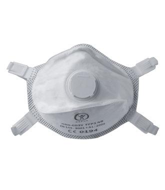 Masque anti-poussière FFP3 NR + Valve HSD-C03V - par 80 pièces