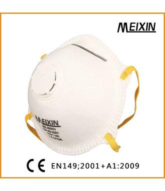 Masque buccal MX-2005 V FFP2 avec valve d'expiration, donc une protection parfaite contre le virus Corona