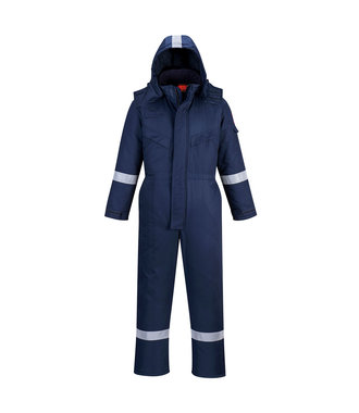 AF84 - Araflame Insulated Winter Coverall - Navy - R