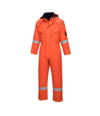AF84 - Araflame Insulated Winter Coverall - Orange - R