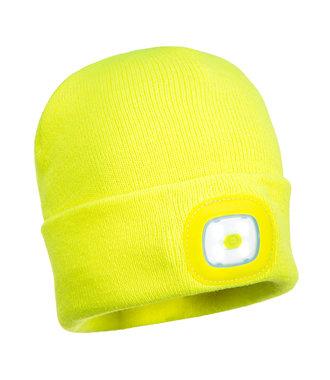 B027 - Junior Beanie LED Head Light - Yellow - R