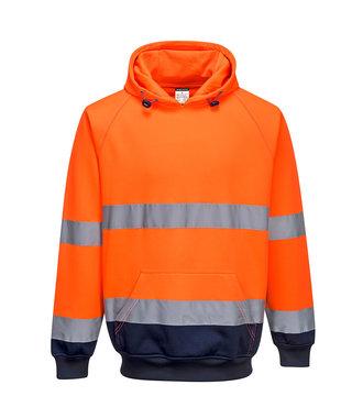 B316 - Two-Tone Hooded Sweatshirt - OrNa - R