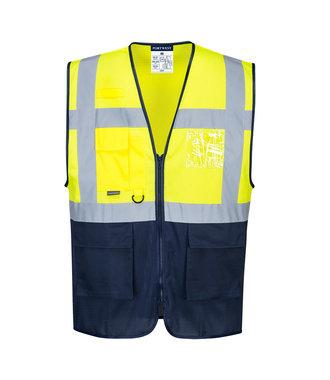 C377 - Hi-Vis Two Tone MeshAir Executive Vest - YeNa - R