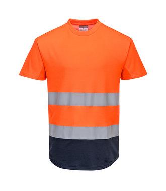 C395 - Two-Tone Mesh T-Shirt - OrNa - R