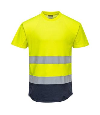 C395 - Two-Tone Mesh T-Shirt - YeNa - R