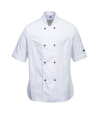 C737 - Rachel Ladies Short Sleeve Chefs Jacket - White - R