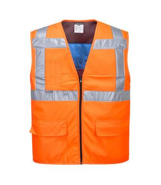 CV02 - High Vis Cooling Vest - Orange - R