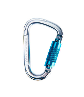 FP32 - Aluminium Twist Lock Carabiner - Silver - R
