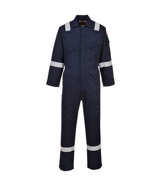 FR21 - Flame Resistant Super Light Weight Anti-Static Coverall 210g - Navy T - T