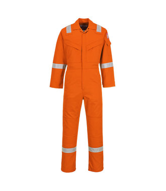 FR21 - Flame Resistant Super Light Weight Anti-Static Coverall 210g - OrangT - T