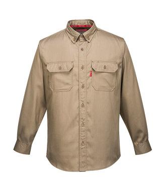 FR89 - Bizflame 88/12 FR Shirt - Khaki - R