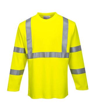 FR96 - FR Hi-Vis Long Sleeve T-Shirt - Yellow - R
