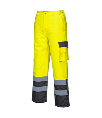 S686 - Hi-Vis Contrast Trousers - Lined - YeBk - R
