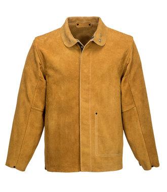 SW34 - Leather Welding Jacket - Tan - R