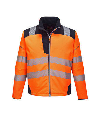 T402 - PW3 Hi-Vis Softshell Jacket - OrNa - R