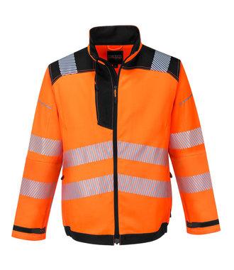 T500 - PW3 Hi-Vis Work Jacket - OrBk - R