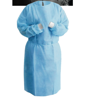 Disposable medical isolation apron