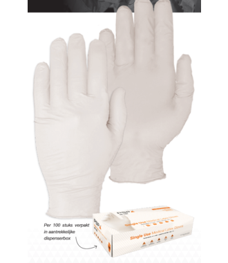 Medische disposable handschoenen latex PSP 50-190