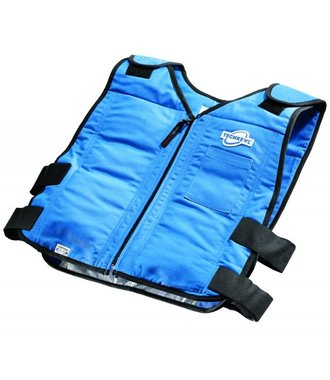 TechKewl Phase Changing cooling vest (6625 6626) with front zip - recommended under coverall
