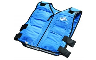 Cooling vests under chemical protection