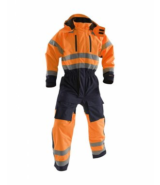 Winter overall, High visibility Orange/Navy blue