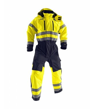 Winter overall, High visibility Yellow/navy blue